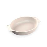 Peugeot Saveurs Appolia Ecru Cream Ceramic 4.4 Quart Oval Baking Dish
