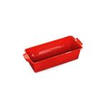 Peugeot Saveurs Appolia Red Ceramic 2 Quart Rectangular Loaf Pan