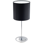 Adesso Chrome Finish Table Lamp with Black Shade
