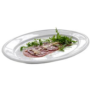 Steel-Function White Porcelain Serving Platter