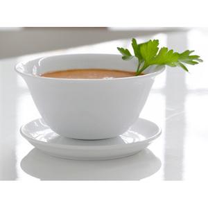 Steel-Function White Porcelain Sauce Server
