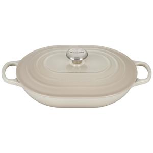 Le Creuset Signature Meringue Enameled Cast Iron 3.75 Quart Oval Casserole Dish