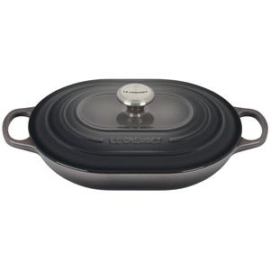 Le Creuset Signature Oyster Enameled Cast Iron 3.75 Quart Oval Casserole Dish