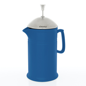 Chantal Blue Cove Ceramic French Press with Stainless Steel Plunger and Lid