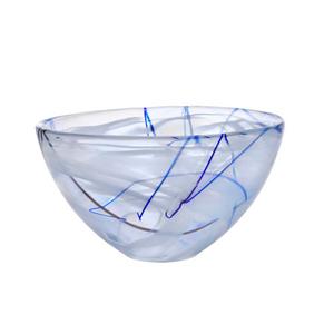 Kosta Boda Contrast White Glass 9 Inch Medium Bowl