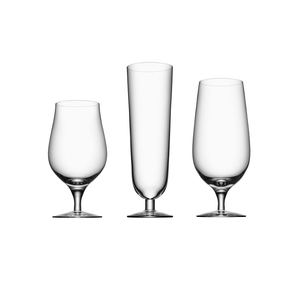 Orrefors Beer Collection 3 Piece Glass Set