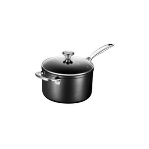 Le Creuset Toughened Nonstick Pro Anodized Aluminum 4 Quart Saucepan with Lid