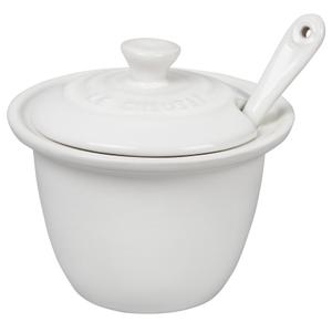 Le Creuset White Stoneware 6.75 Ounce Condiment Pot