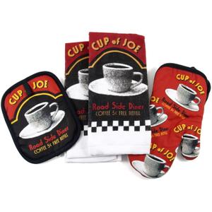 Cup of Joe Road Side Diner 4 Piece Kitchen Set