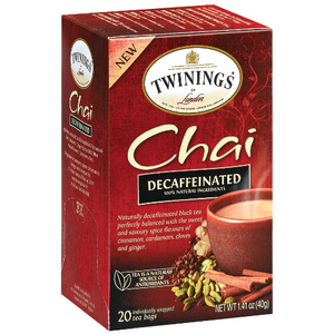 Twinings Decaffeinated Chai Tea, 20 Count