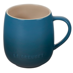 Le Creuset Cafe Collections Deep Teal Enameled Stoneware 13 Ounce Mug