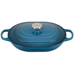 Le Creuset Signature Deep Teal Enameled Cast Iron 3.75 Quart Oval Casserole Dish