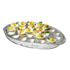 Prodyne Iced Eggs Acrylic & Stainless Steel Server
