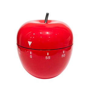 Oggi Red Stainless Steel Apple 60 Minute Kitchen Timer