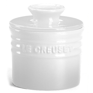 Le Creuset White Stoneware Butter Crock