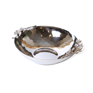 Carmel Ceramica Stainless Steel Oliveira Large Serving Bowl