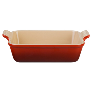 Le Creuset Heritage Cherry Stoneware Rectangular Dish, 1.1 Quart
