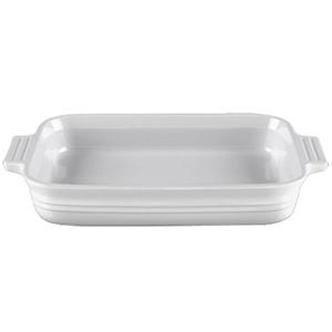 Le Creuset Heritage White Stoneware Rectangular Dish, 2.5 Quart