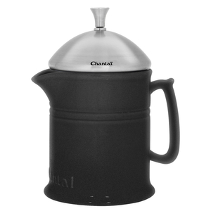Chantal Matte Black Ceramic 16 Ounce French Press with Stainless Steel Plunger