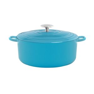 Chantal Sea Blue 5 Quart Round Cast Iron Casserole