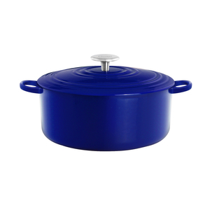 Chantal Cobalt Blue 5 Quart Round Cast Iron Casserole