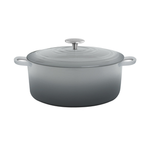 Chantal Fade Grey 5 Quart Round Cast Iron Casserole
