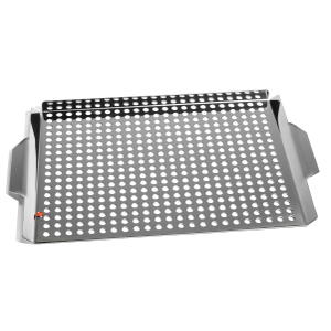 Outset Stainless-Steel Large Grill Grid with Handles
