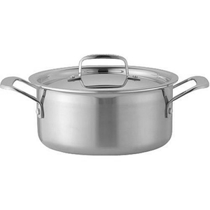 Le Creuset Tri-Ply Stainless Steel Covered Casserole, 6.3 Quart