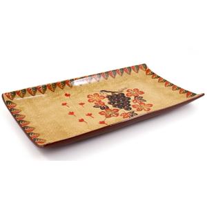 Large Ceramic Harvest Rectangular Serving Tray