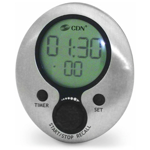 CDN Brushed Stainless Steel 2 Event Timer
