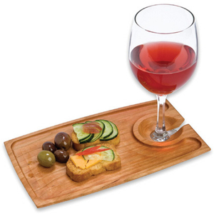 J.K. Adams Maple Rectangular Wine and Dine Plate