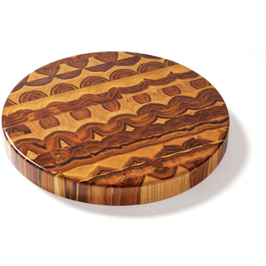 Proteak End Grain 18 Inch Circular Chopping Block