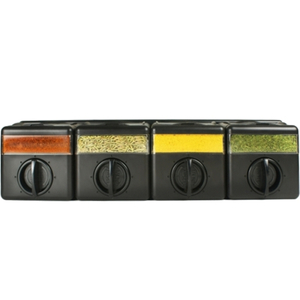 Kitchen Art Black Stainless Steel and Wood Spice Cube