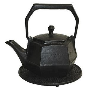 Japanese Tetsubin Cast Iron Hexagon Teapot