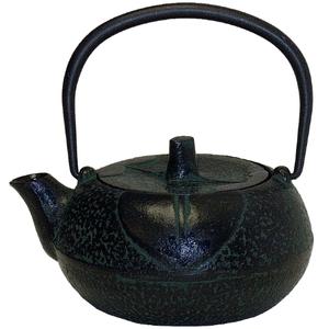 Green & Black Traditional Japanese Tetsubin Teapot
