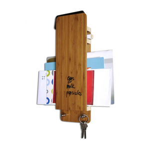 Three by Three Entry Butler Bamboo Dry-Erase Board