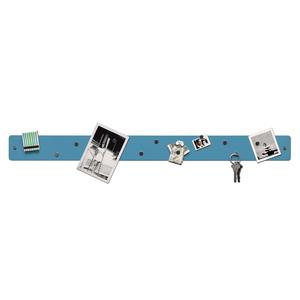 Three by Three Magnetic Strip Bulletin Board in Sky Blue