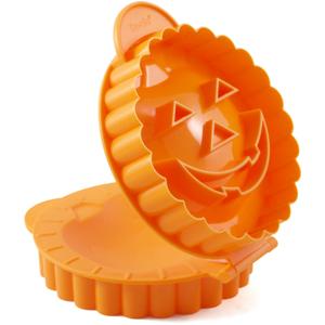 Tovolo Orange Jack-O-Lantern Petite Pie Mold