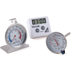 Taylor TruTemp Meat Thermometer, Oven Thermometer and Digital Timer Set