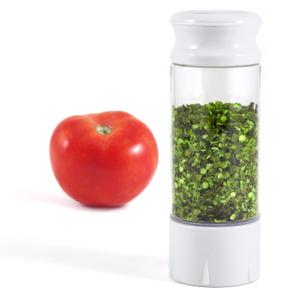 KitchenArt White AirTite Auto-Measure Spice Jar