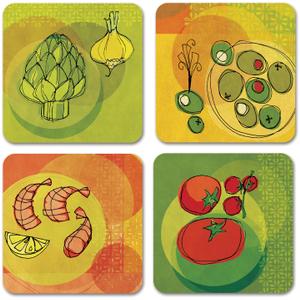 Studio Oh! Garden Variety Paper Coasters, Set of 12