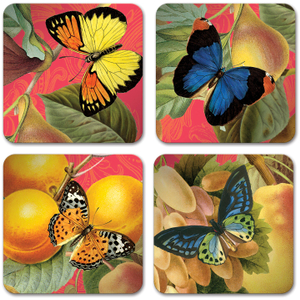 Studio Oh! Bountiful Fruit Paper Coasters, Set of 12