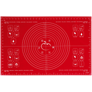 Orka Red Silicone Large Pastry Baking Mat