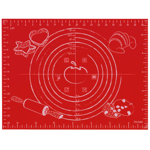 Orka Red Silicone Small Pastry Baking Mat