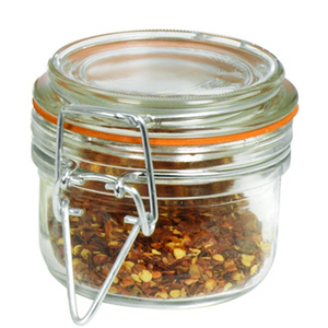 Anchor Hocking 5.4 Ounce Mini Heremes Jar with Clamp Top Lid