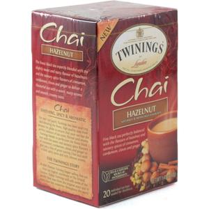 Twinings Hazelnut Chai Tea, 20 Count