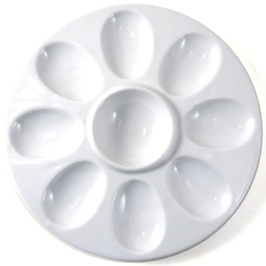 Omniware 8 Cup White Porcelain Devilled Egg Tray