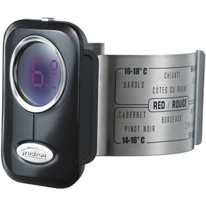 Trudeau Black and Stainless Steel Digital Wine Thermometer