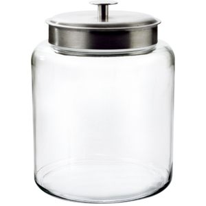 Anchor Hocking Glass Montana Jar with Brushed Aluminum Cover, 2 Gallon