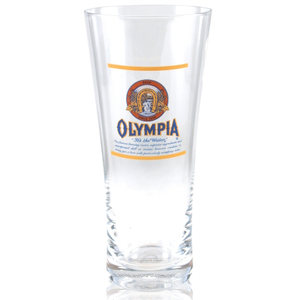 Olympia Beer Flared Pilsner Glass Officially Licensed, Set of 4